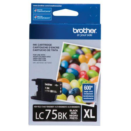 Cartucho Brother LC75BK - preto 600 páginas