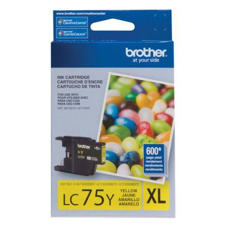 Cartucho Brother LC75Y - amarelo 600 páginas