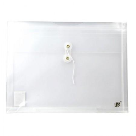 Envelope plástico com ilhós horizontal cristal - EN01AL - Yes