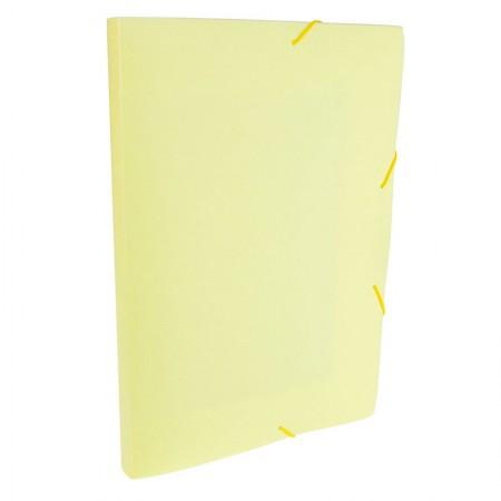 Pasta aba elástico ofício lombo 20mm - Linho Serena - Amarelo pastel - 247.AP - Dello