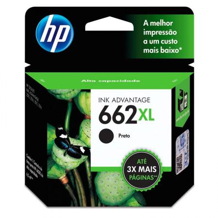 Cartucho HP Original (662XL) CZ105AB - preto rendimento 360 páginas