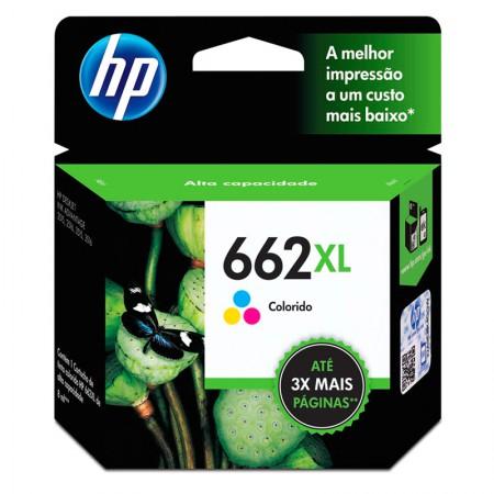 Cartucho HP Original (662XL) CZ106AB - cores rendimento 300 páginas