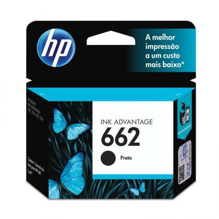 Cartucho HP Original (662) CZ103AB - preto rendimento 120 páginas