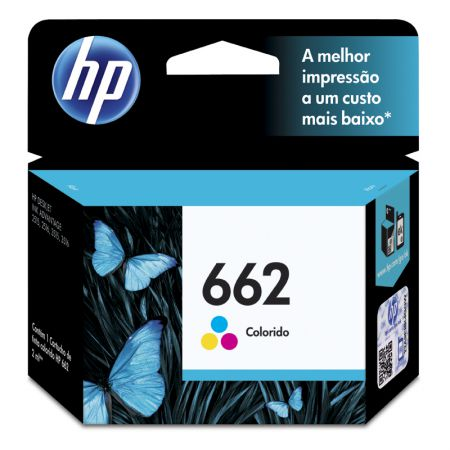Cartucho HP Original (662)CZ104AB cores rend.100pgs