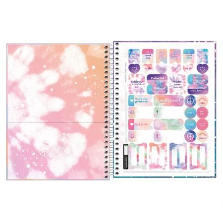Caderno colegial capa dura 1x1 - 80 folhas - Good Vibes - Capa 2 - Tilibra