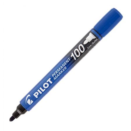 Pincel permanente marker - SCA-100 - Azul - ponta redonda - Pilot