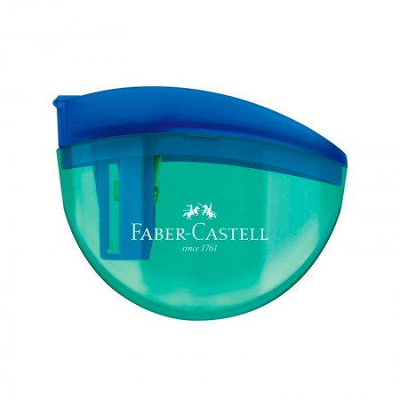 Apontador com coletor aquarius verde - com 1 unidade - SM/AQUARIUS - Faber-Castell