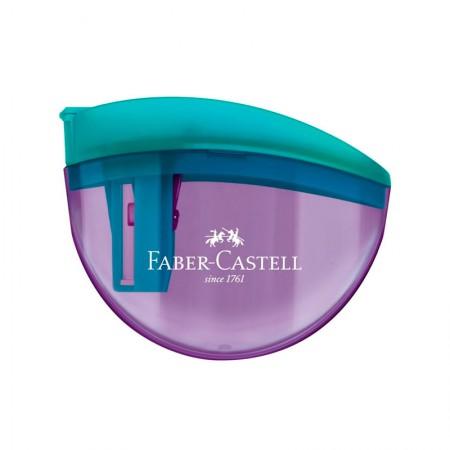 Apontador com coletor aquarius roxo - com 1 unidade - SM/AQUARIUS - Faber-Castell