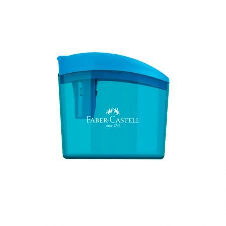 Apontador com coletor clickbox azul - com 1 unidade - SM/CLICKBOX - Faber-Castell