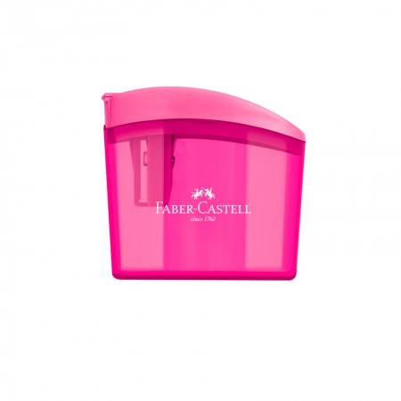 Apontador com coletor clickbox rosa - com 1 unidade - SM/CLICKBOX - Faber-Castell