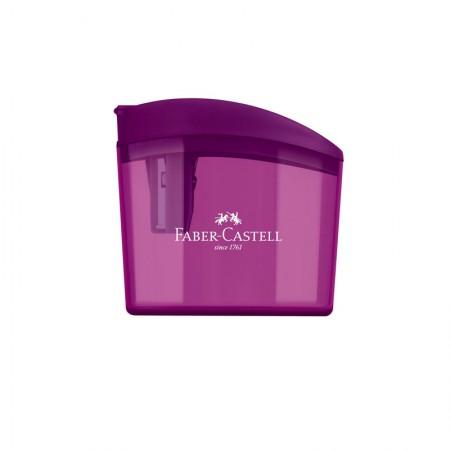 Apontador com coletor clickbox roxo - com 1 unidade - SM/CLICKBOX - Faber-Castell