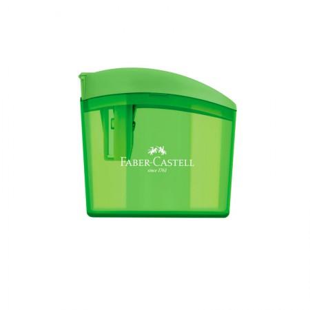 Apontador com coletor clickbox verde - com 1 unidade - SM/CLICKBOX - Faber-Castell