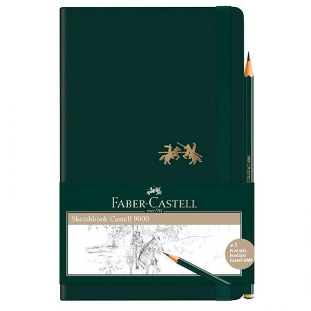 Caderneta Sketchbook Castell 9000 sem pauta - 84 folhas - médio - CDNSKT/ME - Faber-Castell