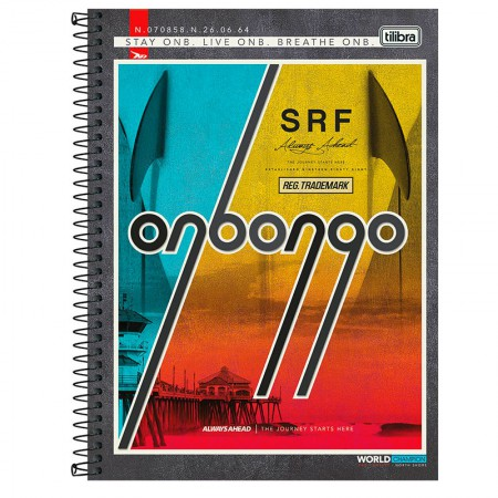 Caderno espiral capa dura universitário 10x1 - 160 folhas - Onbongo - Capa 1 - Tilibra