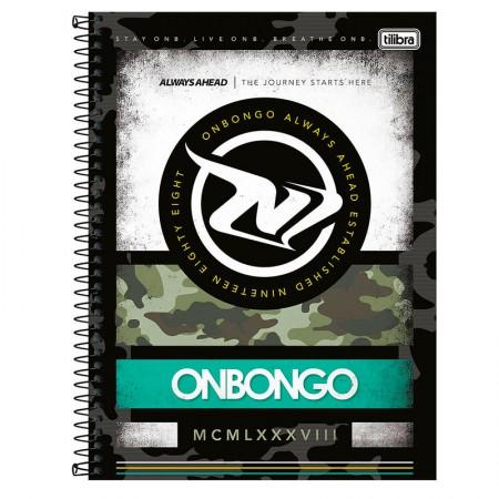 Caderno espiral capa dura universitário 10x1 - 160 folhas - Onbongo - Capa 3 - Tilibra