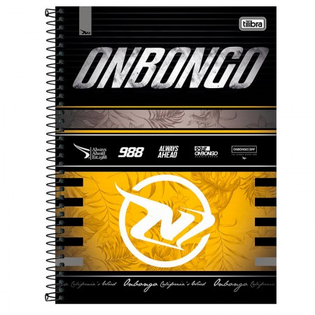 Caderno espiral capa dura universitário 10x1 - 160 folhas - Onbongo - Capa 5 - Tilibra
