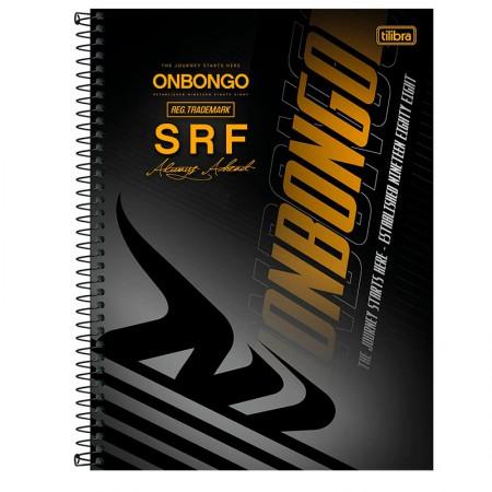 Caderno espiral capa dura universitário 10x1 - 160 folhas - Onbongo - Capa 7 - Tilibra