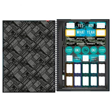 Caderno espiral capa dura universitário 10x1 - 160 folhas - Onbongo - Capa 8 - Tilibra