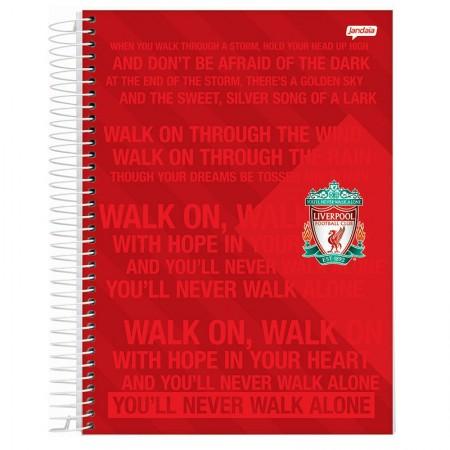 Caderno espiral capa dura universitário 10x1 - 200 folhas - Liverpool - Capa 2 - Jandaia
