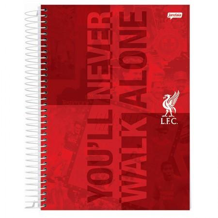 Caderno espiral capa dura universitário 10x1 - 200 folhas - Liverpool - Capa 4 - Jandaia