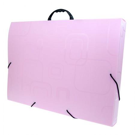 Maleta com alça Dellosmile A3 - rosa - 2151.Q - Dello
