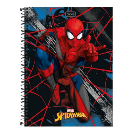 Caderno espiral capa dura universitário 1x1 - 80 folhas - Homem Aranha - Capa 2 - Tilibra
