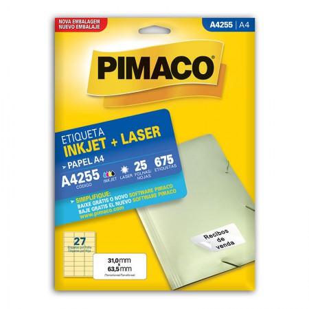 Etiqueta inkjet/laser A4255 - com 25 folhas - Pimaco