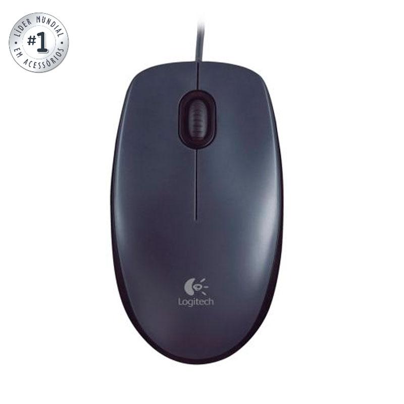 Mouse USB ótico M100 preto - Logitech