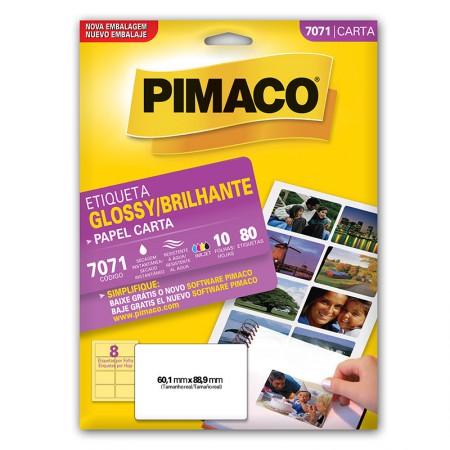 Etiqueta papel glossy 7071 - com 10 folhas - Pimaco