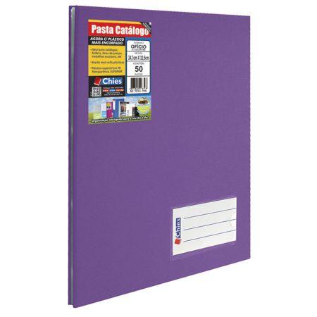 Pasta catálogo ofício 4003 violeta 50 plásticos Chies