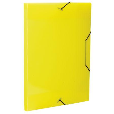 Pasta aba elástico ofício lombo 20mm - Transparente amarela - 0234.A - Dello