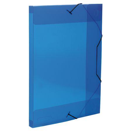 Pasta aba elástico ofício lombo 20mm - Transparente azul - 0234.C - Dello
