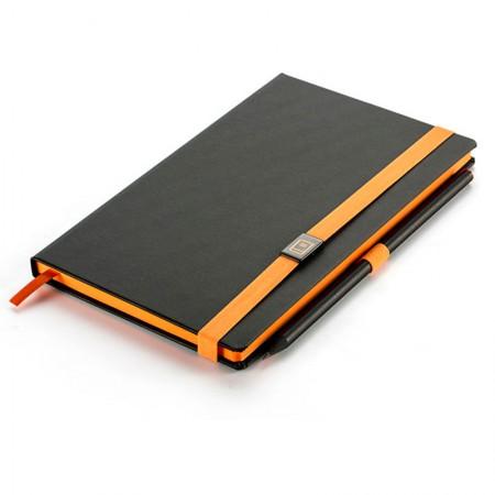 Caderno capa dura Papertalk Maxi colors laranja - 84 folhas - 4382-7 - Pautado - Ótima