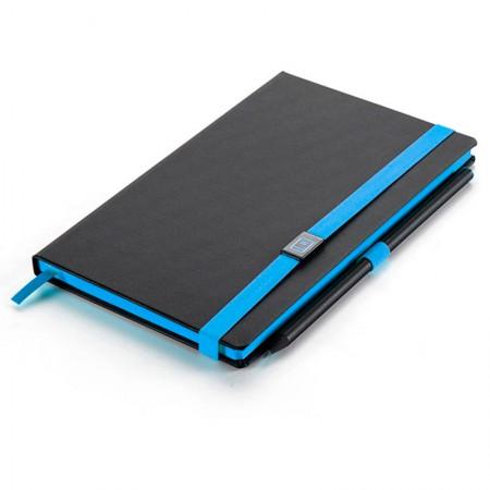 Caderno capa dura Papertalk Maxi colors azul - 84 folhas - 4383-4 - Pautado - Ótima