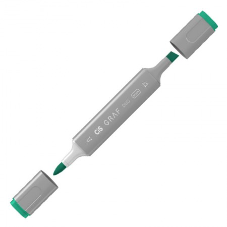 Caneta marcador artistico Graf Duo Brush - (54) - Viridian - Cis