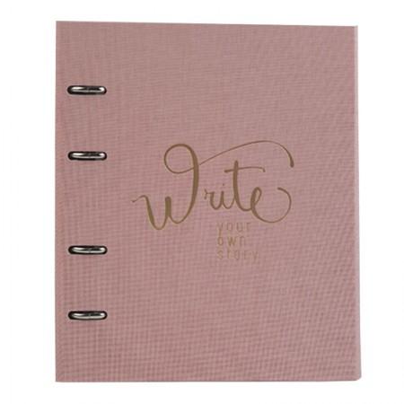 Caderno argolado Ultra Cotton - 190 folhas - Fichário Rosa - 9004-3 - Ótima
