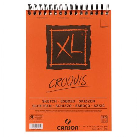 Bloco Croquis XL espiral creme A4 90gr - com 120 folhas - Canson