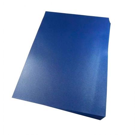 Capa para encadernação A3 azul marinho fosco - pacote com 100 unidades - Mares