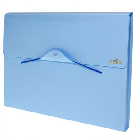 Pasta sanfonada A4 com 12 divisórias - Linho serena - Azul pastel - 6096.BP - Dello