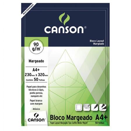 Bloco layout margeado A4+ 90g - com 50 folhas - Canson