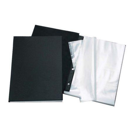 Pasta catálogo sem visor - 1028SV - Preto - com 10 envelopes plásticos - Dac