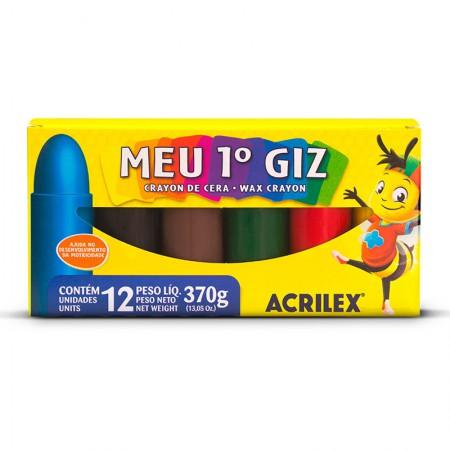 Giz de cera Meu Primeiro Giz 12 cores - Acrilex