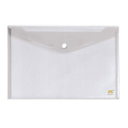 Envelope plástico com botão A4 - 653PP-TR - Cristal - Dac