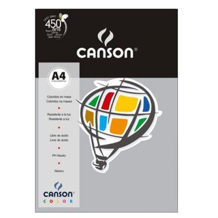 Papel Color Vivaldi A4 180g cinza escuro - com 10 folhas - Canson