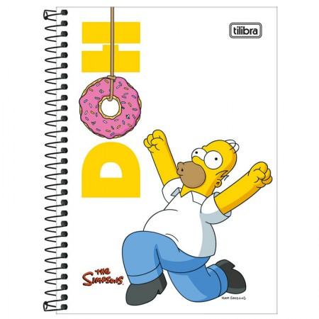 Caderno espiral capa dura 1/4 - 80 folhas - Simpsons - Capa 2 - Tilibra