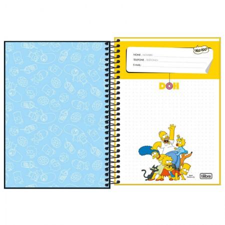 Caderno espiral capa dura 1/4 - 80 folhas - Simpsons - Capa 3 - Tilibra