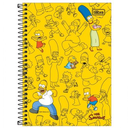 Caderno espiral capa dura 1/4 - 80 folhas - Simpsons - Capa 4 - Tilibra