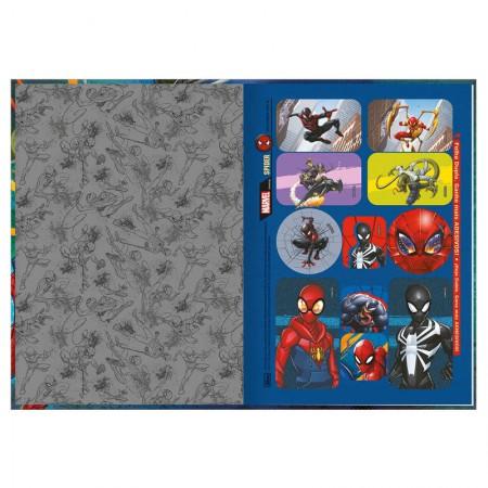 Caderno brochura capa dura 1/4 - 80 folhas - Homem Aranha - Capa 1 - Tilibra