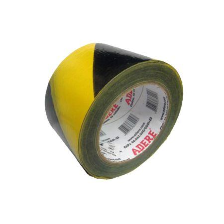 Fita zebrada preta/amarela - 70x200 metros - Adere