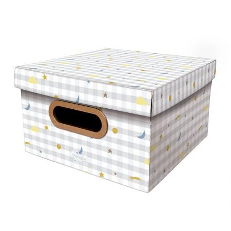 Caixa Organizadora pequena linho - pequenos astros - 2324 - Dello